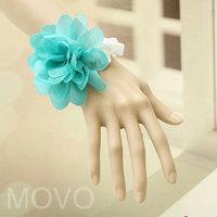 Vintage bridal and bridesmaids lace flower bracelet wrist length flower women wedding jewelry 0262