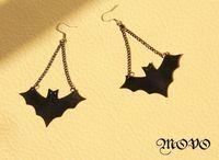 Bat style earrings fashion vintage drop earrings women cool jewelry free shipping 009
