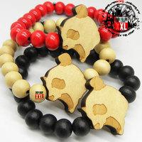 Crazy panda good wood hiphop wood bracelet goodwood