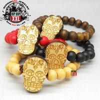 Skull skull good wood fashion hiphop wood bracelet goodwood