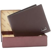 Dandeli  male wallet cowhide wallet fashion men's short design leather wallet