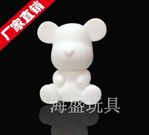 Free shipping Violence bear momo mobile phone rhinestone pasted doll rhinestone pasted sucker doll material kit(China (Mainland))