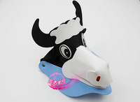 free shipping 10pcs/lot Eva hat sunbonnet parent-child cartoon hair accessory zodiac hair accessory animal hat cow hat