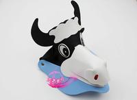 free shipping 10pcs/lot Eva hat sunbonnet parent-child cartoon hair accessory zodiac hair accessory animal hat cow hat