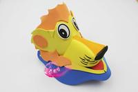 free shipping 10pcs/lot Eva hat cartoon sunbonnet parent-child props hat animal hair accessory cartoon hat lion hat