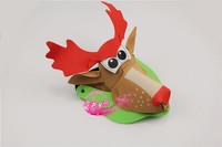 free shipping 10pcs/lot Eva hat cartoon sunbonnet parent-child props cap animal hair accessory cartoon hat