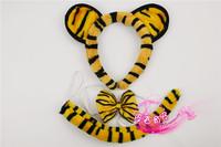 free shipping 10pcs/lot Cartoon headband child hair bands animal piece set hair accessory tiger headband black tiger piece set