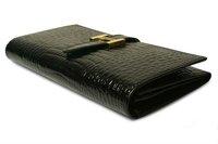 New Arrival Crocodile Vein Pattern Genuine Leather Women's Long Wallets, ladies' Fashion Purse, Clutch wallet, Women coin purse