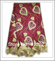 African Swiss Voile Lace High Quality 100% Cotton Lace Fabric Free Shipping NL480F
