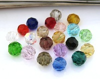 Crystal beads , 32 faceted beads 6mm , approx 100pcs/strand, 5strands/lot, Free shipping .