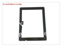 Original For ipad4 touch screen /touch panel / digitizer with home button assembly black/white color