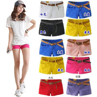 2013 women's denim plus size casual multicolour candy color shorts summer female trousers shorts Free shipping