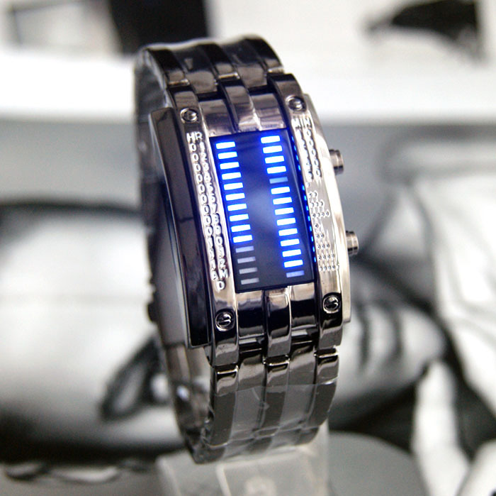Iron table watch table fashion led watch male watch(China (Mainland))