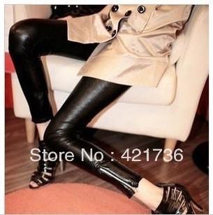 Пу женщин леггинсы сексуальные брюки черного