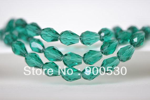 Navio livre 100 Pcs pavão verde gota do rasgo lapidado cristal contas solta pérolas jóias moda do grânulo(China (Mainland))