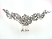 sequin flower applique paillette beads patches hair accessory cravat gold and silver