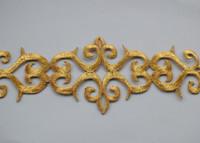 gold applique,gold embroidery fabric applique 3cm