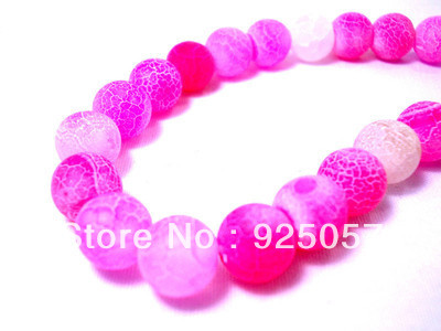 "AAA 10mm Pink Dream Fire Dragon Veins Agate Loose Beads 15"" AAAFashion jewelry(China (Mainland))"