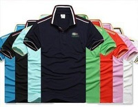 Free Shipping Summer Hot Sale High Quality Casual Men's T-shirt 8 Colors 1pc/lot Polo Shirt