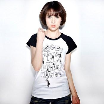 Vancl VANCL print t-shirt letter Women