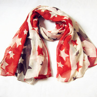 free  shipping fasion cotton voile big star scarf/fashion lady arb head shawls110*180cm