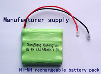 Manufacturer supply Cordless Home Phone Battery AAA 900mAh 4.8V Universal interface