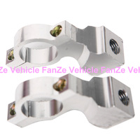 """Free Shipping New Pair 10mm 7/8"""" Motorcycle Handlebar Mirror Mount Holders Adapter Aluminum Clamp"""