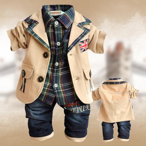 Grátis 3pcs envio Academy estilo definido Meninos Define Vestuário Outono e na Primavera de 2013 para a altura de 70 a 100 centímetros(China (Mainland))