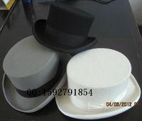 100% Wool Top Hat 12cm High Crown Luxury Wool Felt Fedoras Black White Red Gray High Quality