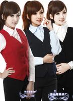 New Arrival Winter 2014 Female Vest Professional Women'S OL Outfit Vest Women'S Slim Work Vest Black Dark Blue Red