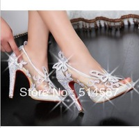2013 new sexy sandal shoes for women fashion design mesh crystal heeled shoes Hot