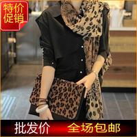 Hot-selling fashion star classic leopard print magicaf scarf autumn and winter female chiffon silk scarf accessories