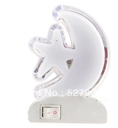 Led with switch small night light moon(China (Mainland))