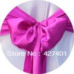 Hot Sale Purple Fuchsia Satin Chair Cover Sash / Satin Sash / Chair Sash For Wedding Event & Party Decoration