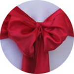 Hot Sale Dark Red Satin Chair Cover Sash / Satin Sash / Chair Sash For Wedding Event & Party Decoration