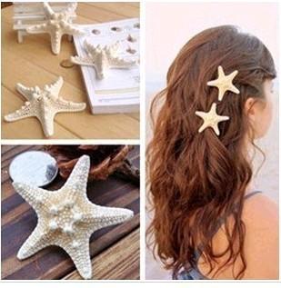 H005 Fashion personality of pure natural starfish beach holiday edge clip hair hair accessories hairpin wholesale B3.6