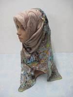 Muslim long Shawel with inner Cap Silk shawel new design islamic scarves Accept  57