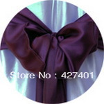 Hot Sale Eggplant Satin Chair Cover Sash / Satin Sash / Chair Sash For Wedding Event & Party Decoration