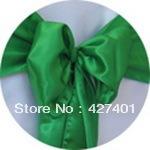 Hot Sale Green Satin Chair Cover Sash / Satin Sash / Chair Sash For Wedding Event & Party Decoration