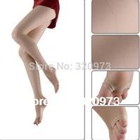 5pcs/lot free shipping 2014 new women fashion ultra thin 20D transparent open toe tights velvet pantyhose factory price