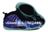 EMS free shippingFashion Air Foamposite One Pro Galaxy mens sports shoes,Penny Hardaway Basketball Shoes,athletic shoes for men,