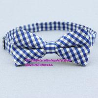 New Hot Sale,Men Fashion Royal Blue/White grid check pre-tie adjustable Tuxedo cotton bowtie,mens party Bow tie/butterfly,x34