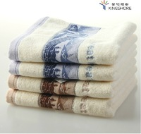 100% Cotton Towels Face Towel Wash Cloth Exquisite Chinese Style Jacquard Great Wall Brown 78*35CM