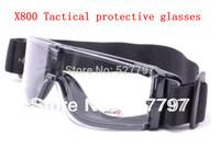 X800 3 lenses Tactical Goggles US military bulletproof eyewear antifog Storm SunGlasses free shipping