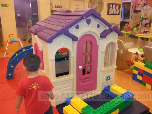 Chocolate game house child doll plastic small house toy(China (Mainland))