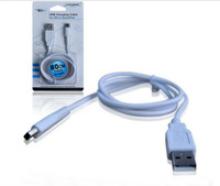 "White 80cm  About 31.5"" USB Charging Cable Video Game Player Parts&Accessories Fit For WII U GAME PAD Free Shipping"