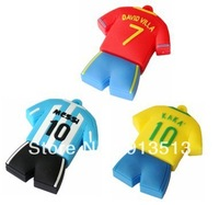 Wholesale football wear usb flash drive memory 2GB 4GB 8GB free DHL EMS UPS shipping accept mix order