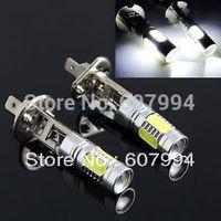 free shipping 2pcs/lot 7.5W h1 SMD LED Turn Brake Stop Signal  Fog Day Running Bulb Light Lamp For Auto Car DC12V-24V White