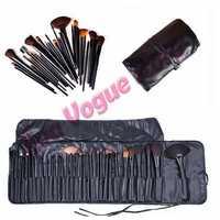 Professional Makeup Brush Set 32 Eyebrow Shadow Cosmetic Brush Kit + Black Case Bag