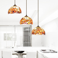 NEW Stair lamp restaurant lamp three head pendant light pendant lamp shell lamp rich flowers 3-lights Free shipping